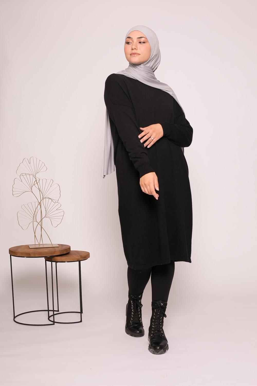 Pull tunique noir