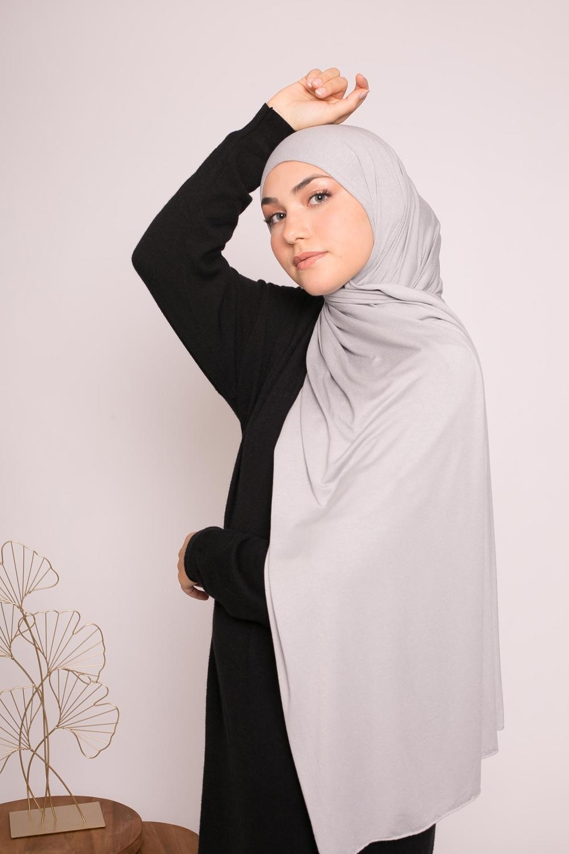 Hijab jersey lux soft gris
