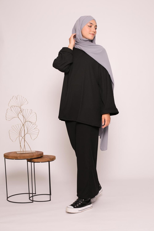 ensemble jupe et haut oversize noir