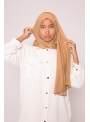 Hijab jersey luxe soft caramel boutique musulmane