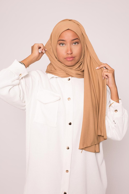 Hijab jersey lux soft caramel