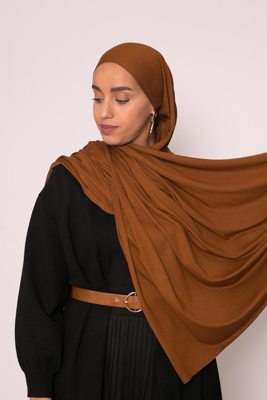 Hijab jersey lux soft moka