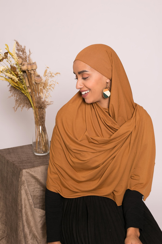 Hijab jersey lux soft camel