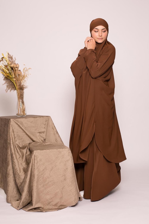 Jilbab 2pièces choco