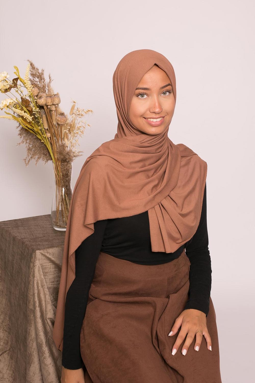 Hijab jersey lux soft choco