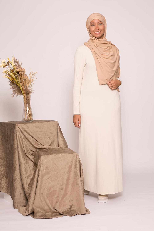 robe pull d'hiver crème