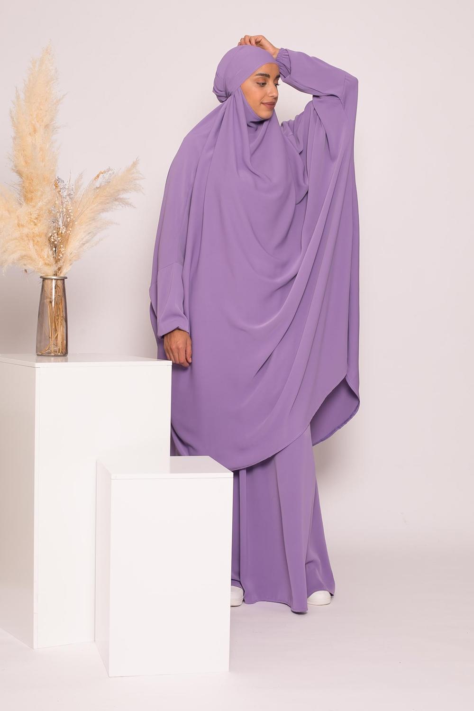 Jilbab 2pièces lavande