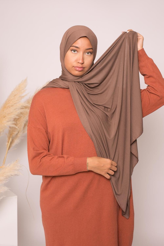 Hijab jersey lux soft marron