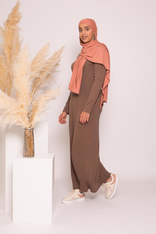 robe pull d'hiver marroné