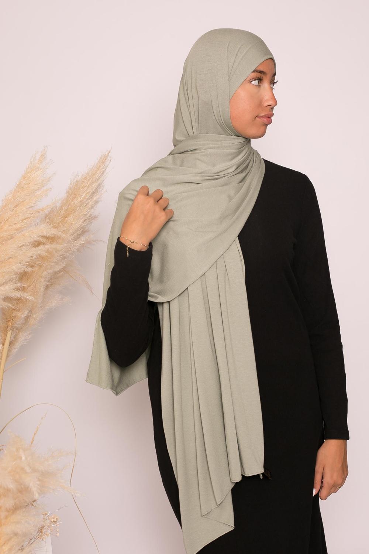 Hijab jersey lux soft vert pastel