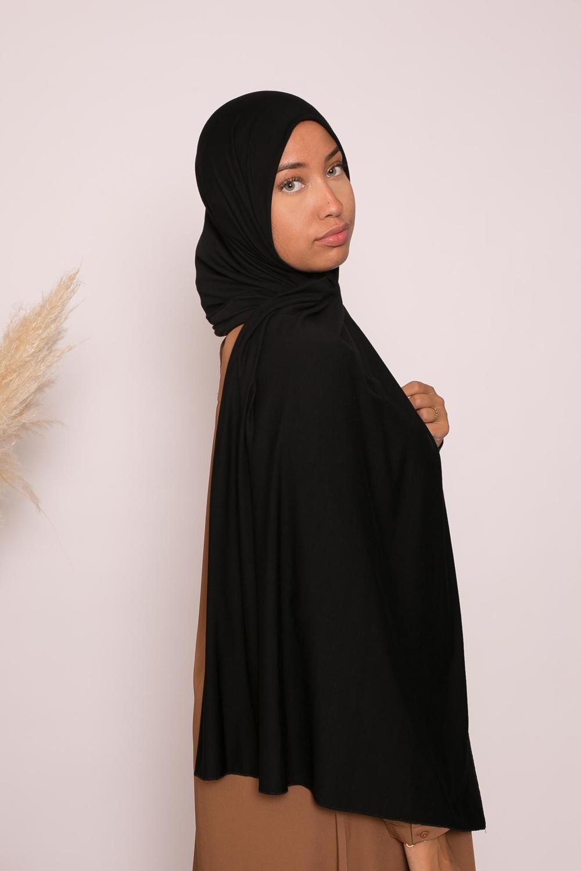 Hijab jersey lux soft noir