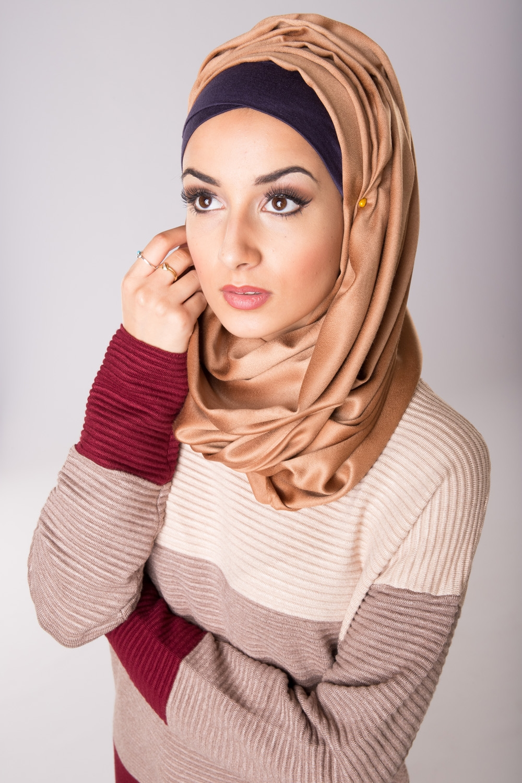 Foulard de soie camel