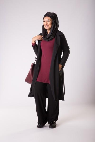 vêtements femme musulmane: Trench léger noir