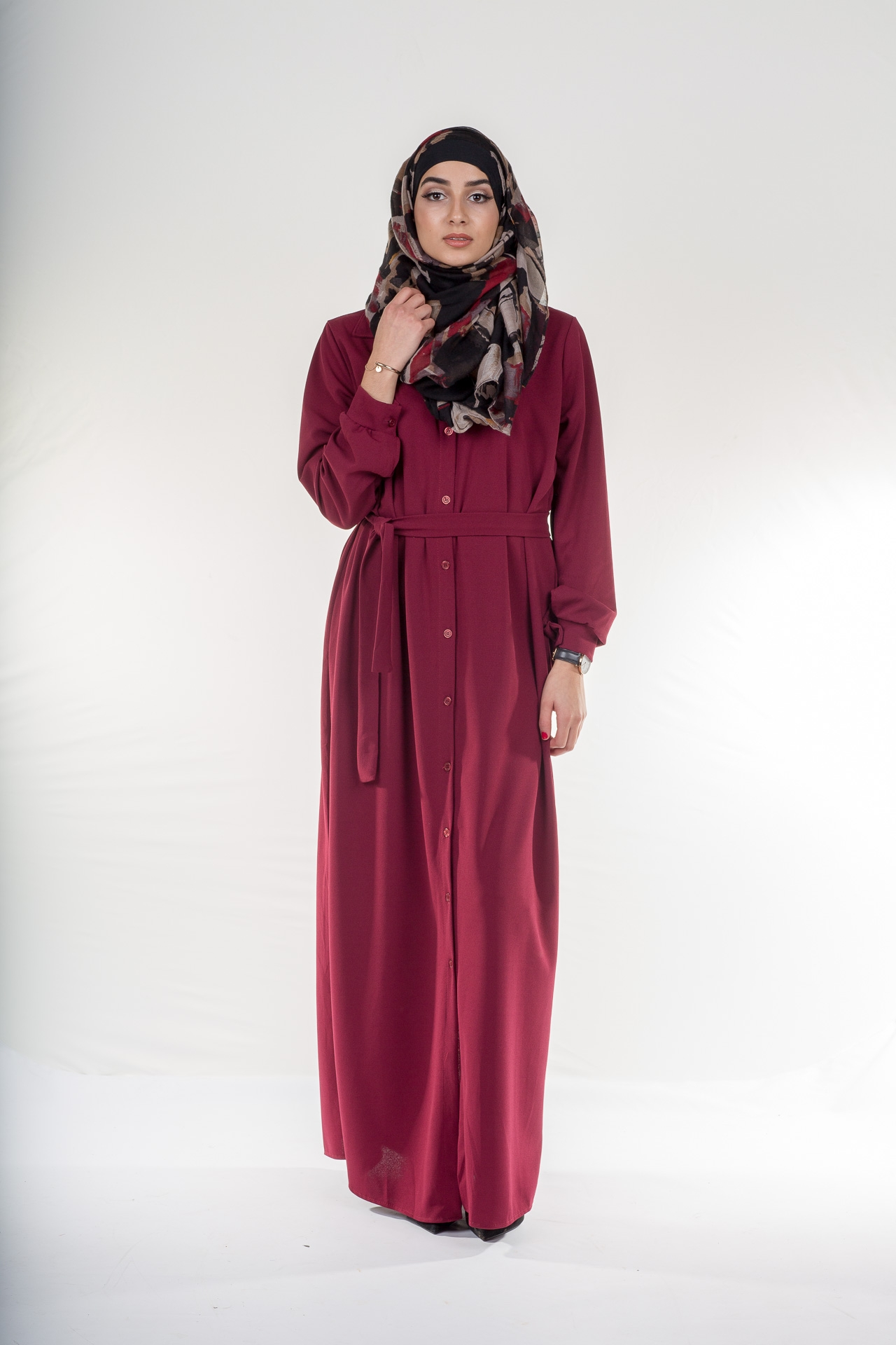 Robe Winter bordeaux (prune)