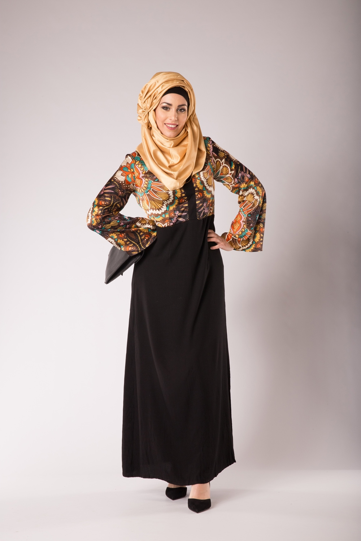 Abaya de satin
