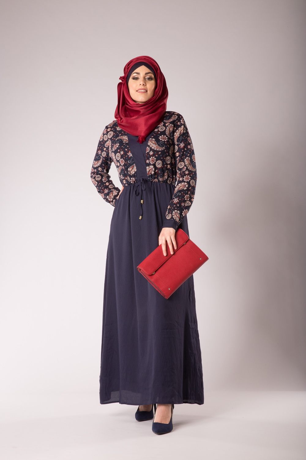 Robe arabesque bleu