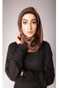 hijab de soie chocolat