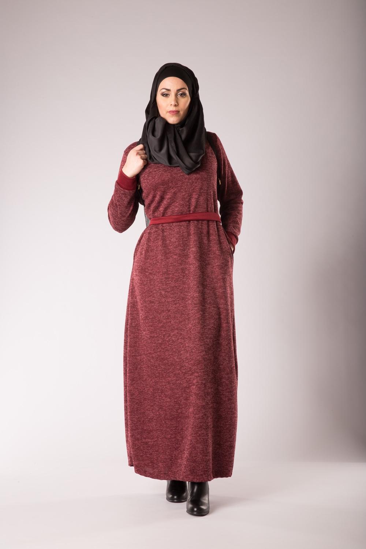 Robe pull bordeaux