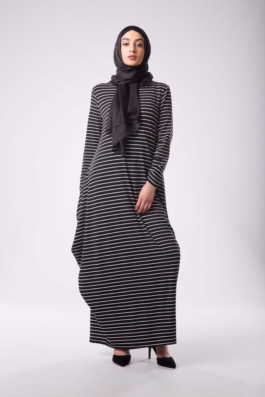 Robe marinière Noir