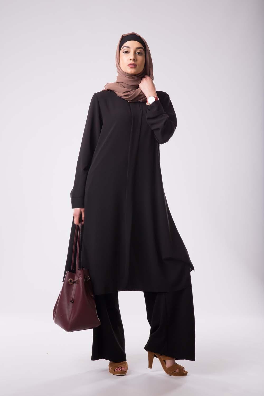 Tunique Col chemise noir