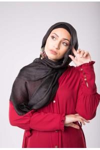 Maxi hijab d'été noir