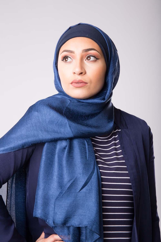 Maxi hijab d'été bleu