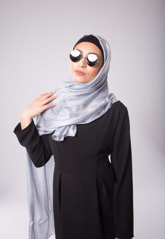 Maxi hijab d'été gris