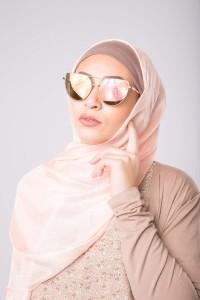 Maxi hijab d'été rose