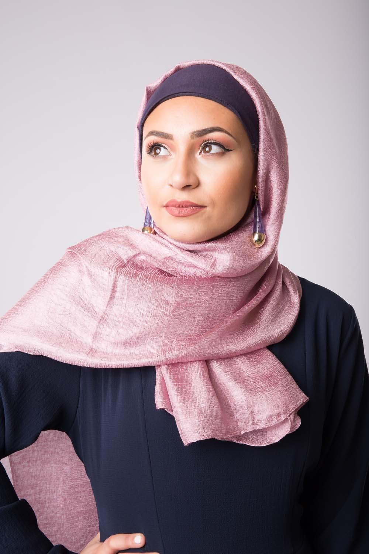 Maxi hijab d'été violine