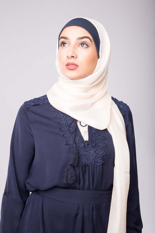 Maxi hijab d'été blanc cassé