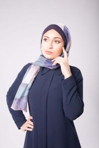 Hijab Printemps bleu
