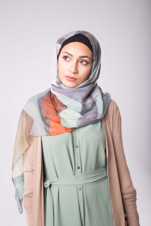 Hijab Printemps vert