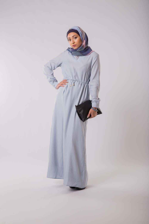 Robe Anika bleu clair