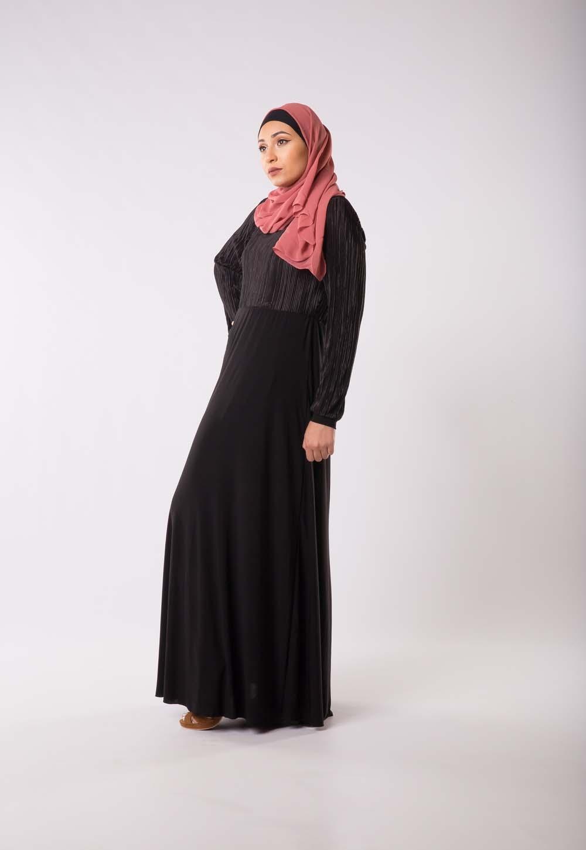 Robe plissé noire