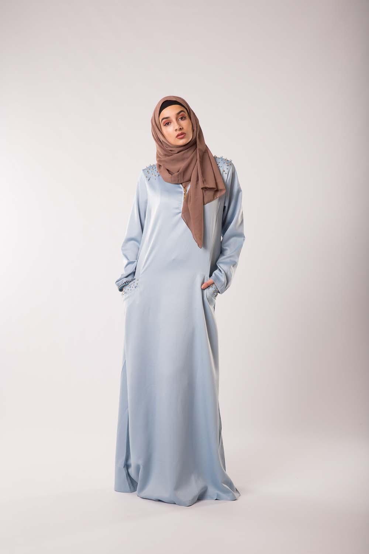 Abaya Chic & Modesty Bleu pastel
