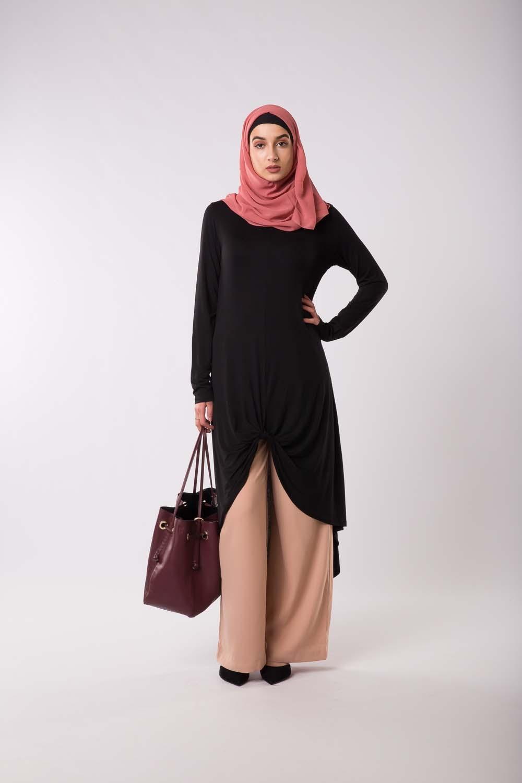 Tunique à noeud noir