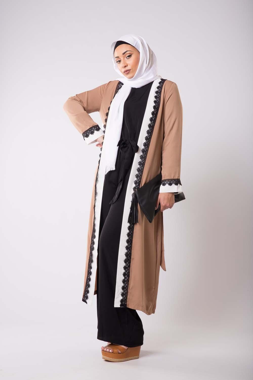 Kimono bi-color camel