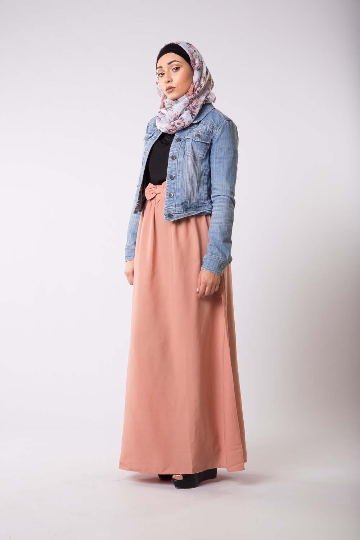 Jupe habillé rose