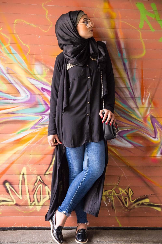 Chemise longue noir