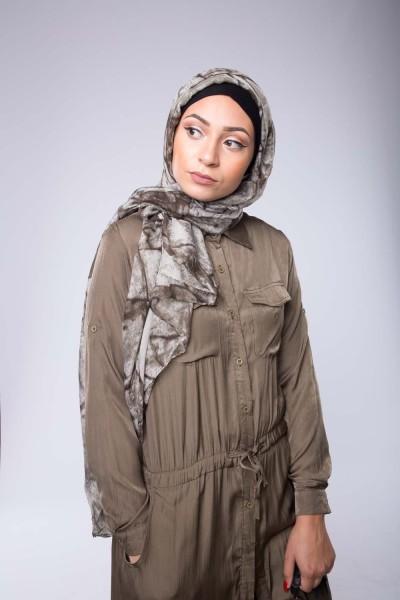 Hijab moderne Marbré kaki boutique hijab femmes modernes musulmanes