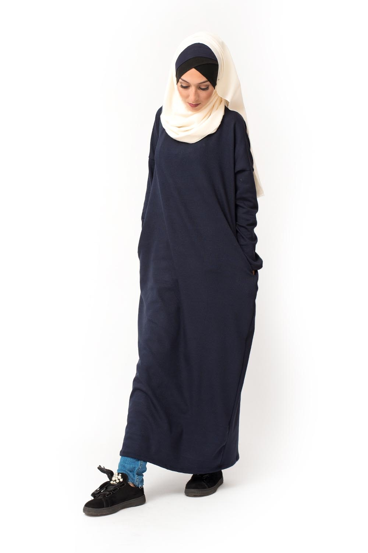 robe pull bleu vetements hijab. Black Bedroom Furniture Sets. Home Design Ideas