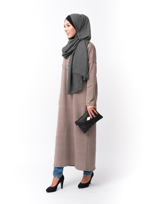 Robe Pull taupe