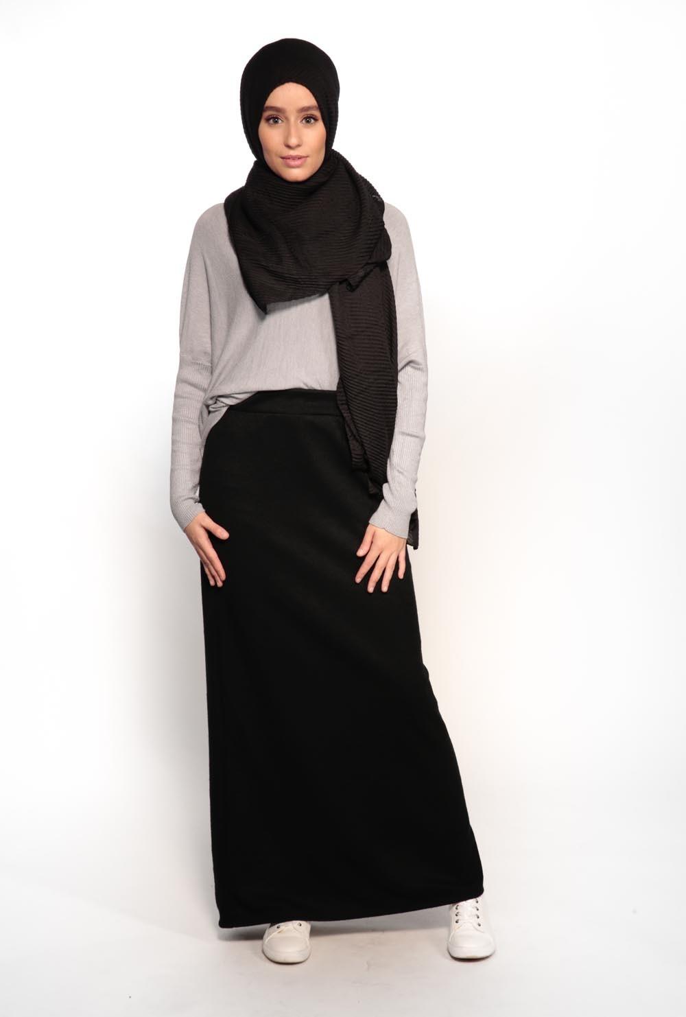 jupe crayonnoir hiver femmes musulmanes. Black Bedroom Furniture Sets. Home Design Ideas
