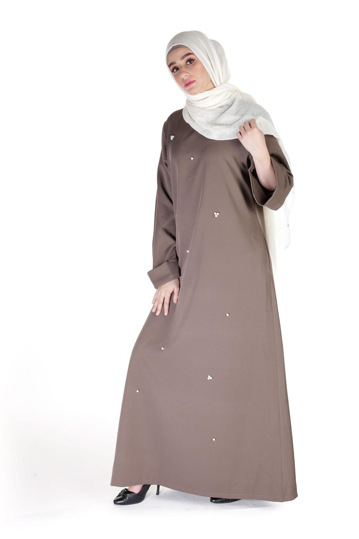 Abaya Pearly taupe