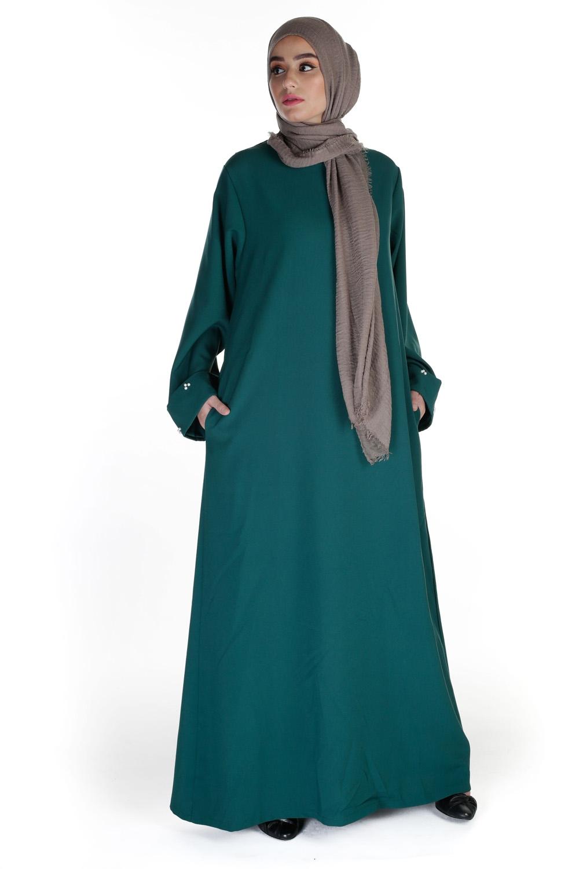 Abaya Modest Chic vert bouteille