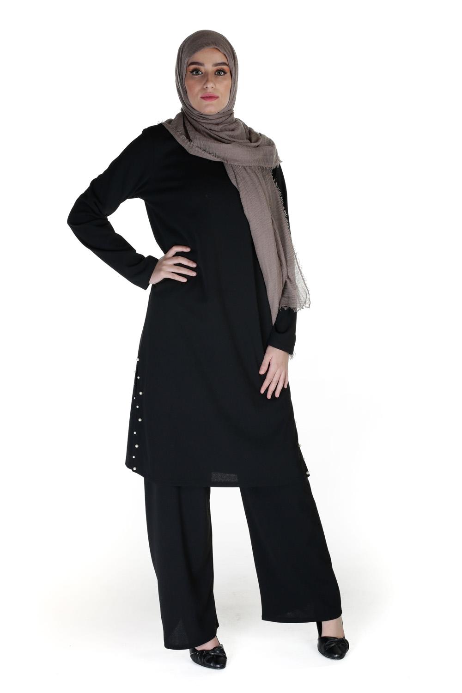 Tunique Chic perlé noir