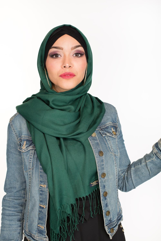 Pashmina Turkey vert bouteille