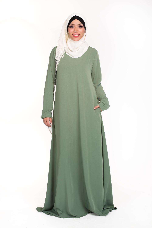 Robe Eva vert pastel