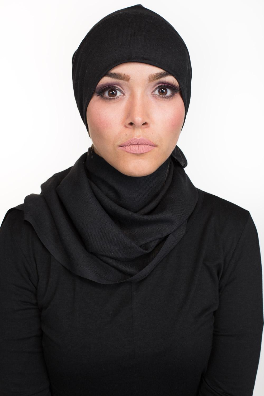 Bonnet tube coton noir