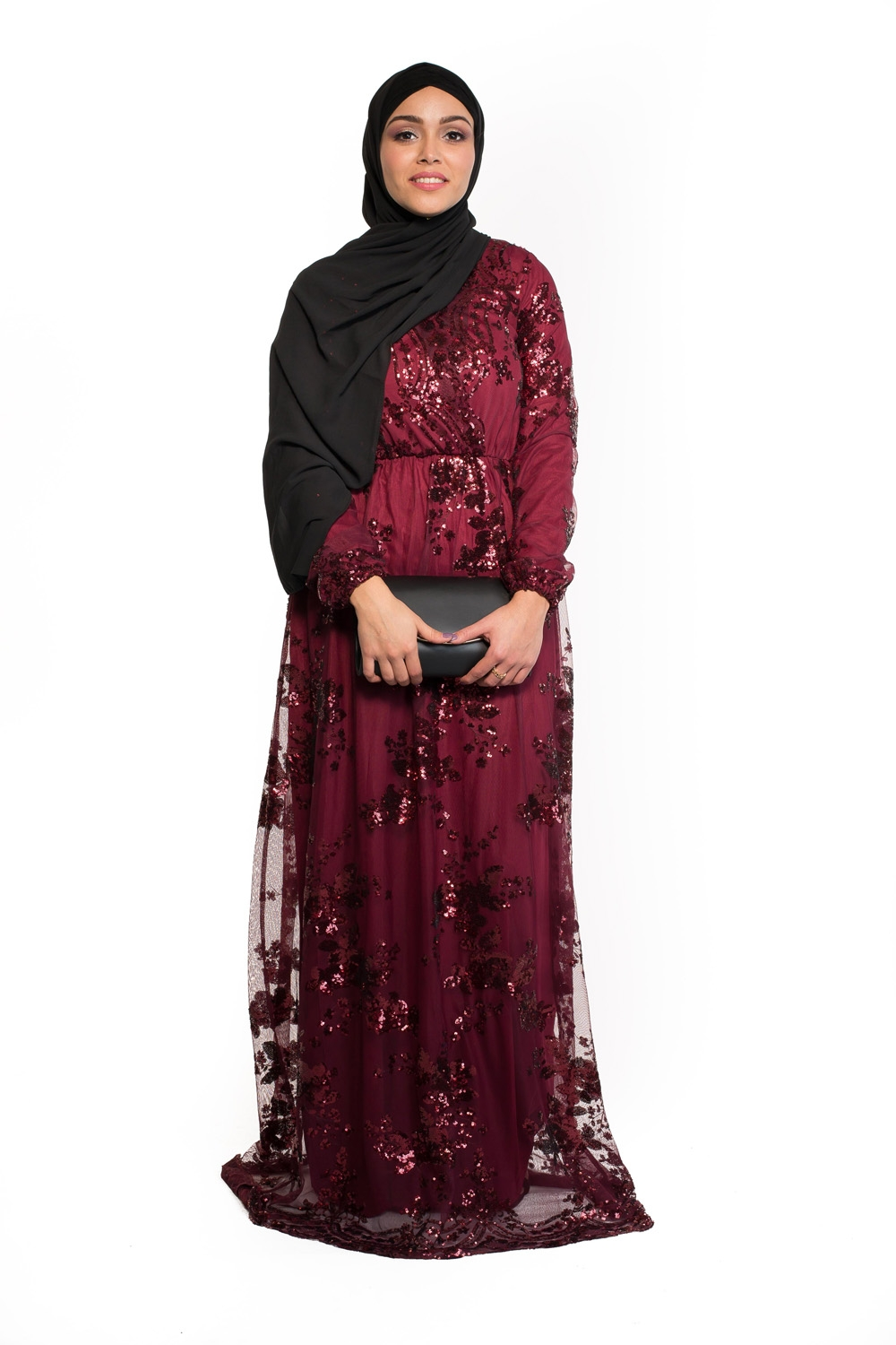 Robe Sequin bordeaux